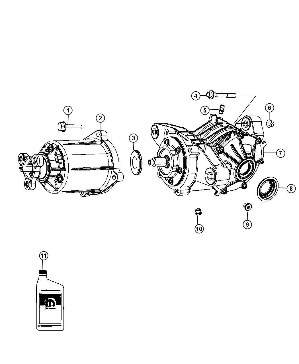 Dodge Journey Bdorc Viscous Unit Kit Rear Axle
