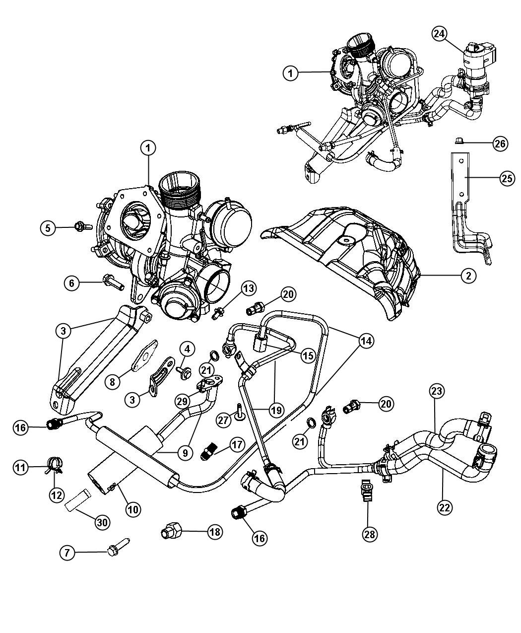 Dodge Avenger Thermostat Location Diagram