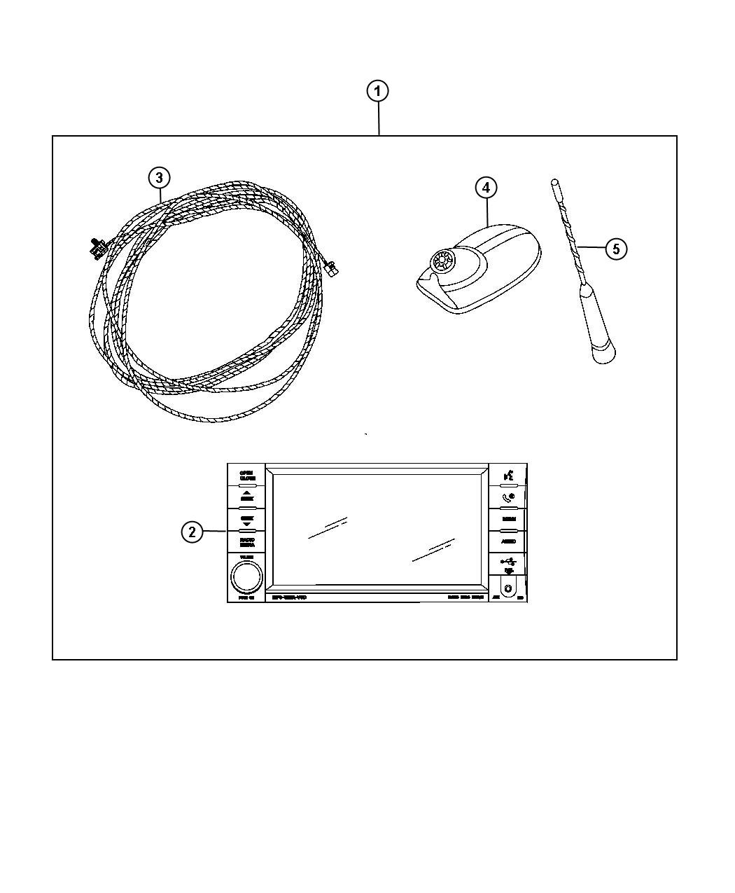 Jeep Grand Cherokee Antenna Used For Base Cable And