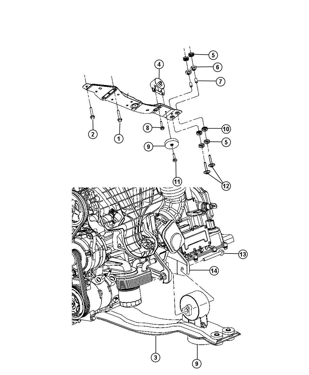 Engine Mounting Front Fwd 3 6l 3 6l V6 24v Vvt Engine