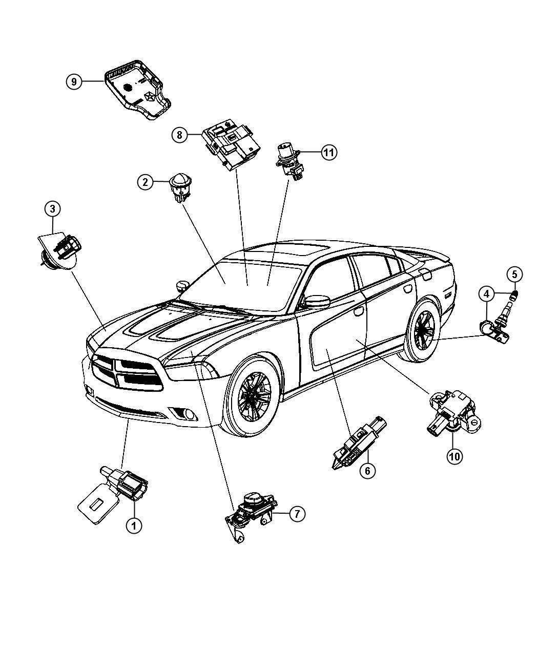 Dodge Sensor And Bracket Adaptive Speed Control