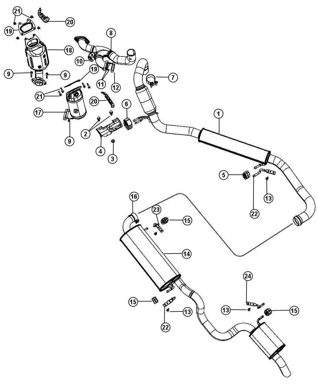 Dodge Grand Caravan Muffler And Resonator Exhaust