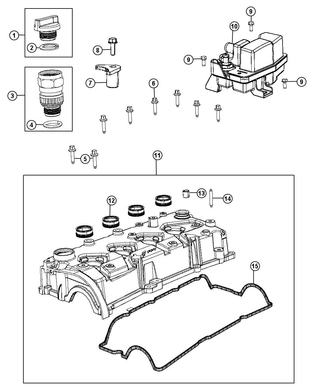 Dodge Dart Separator Engine Oil Illustration Refer