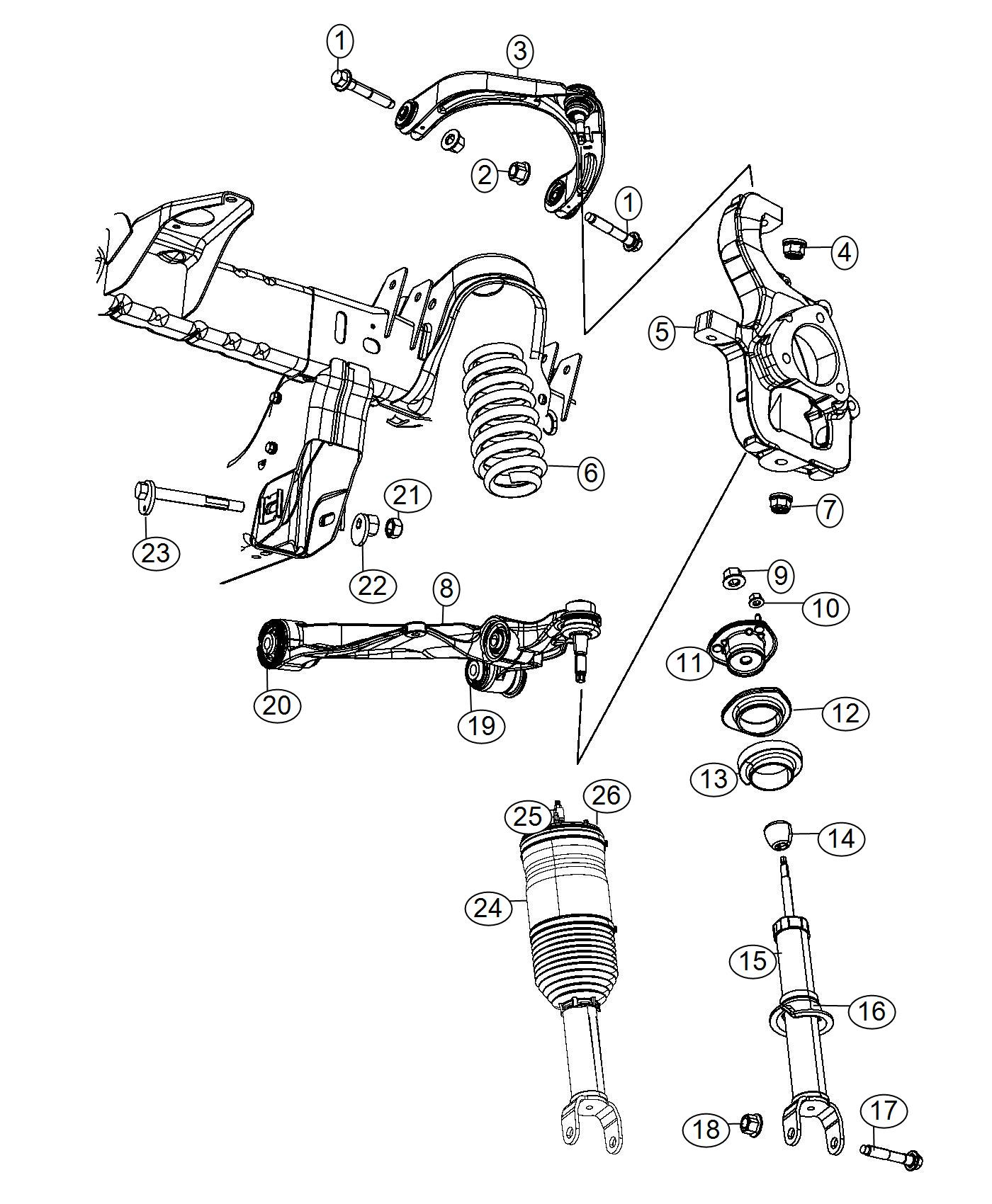 Ram Arm Left Left Front Lower Control Awl
