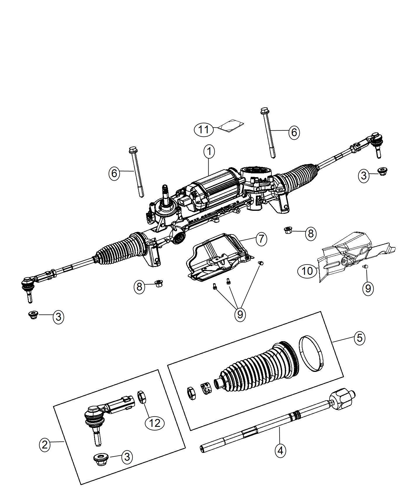 Jeep Cherokee Tie Rod End Inner Firm Suspension