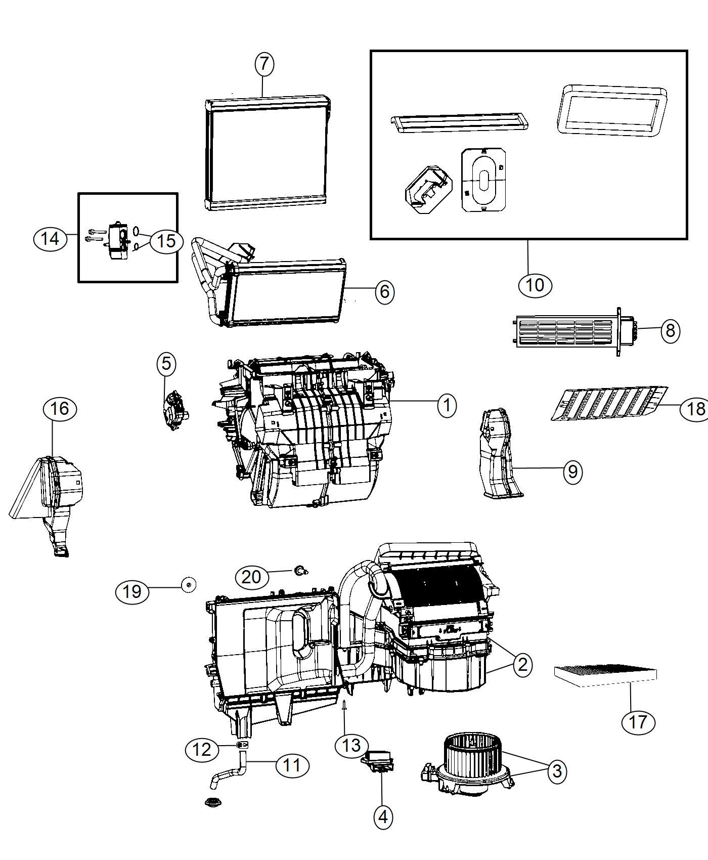 Dodge Ram Filter Air Cabin Air
