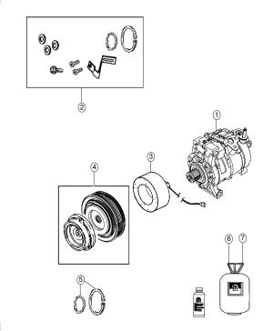 68224150AA  Chrysler Lubricant Compressor Nd12, nd12 denso | Factory Chrysler Parts, Bartow Fl