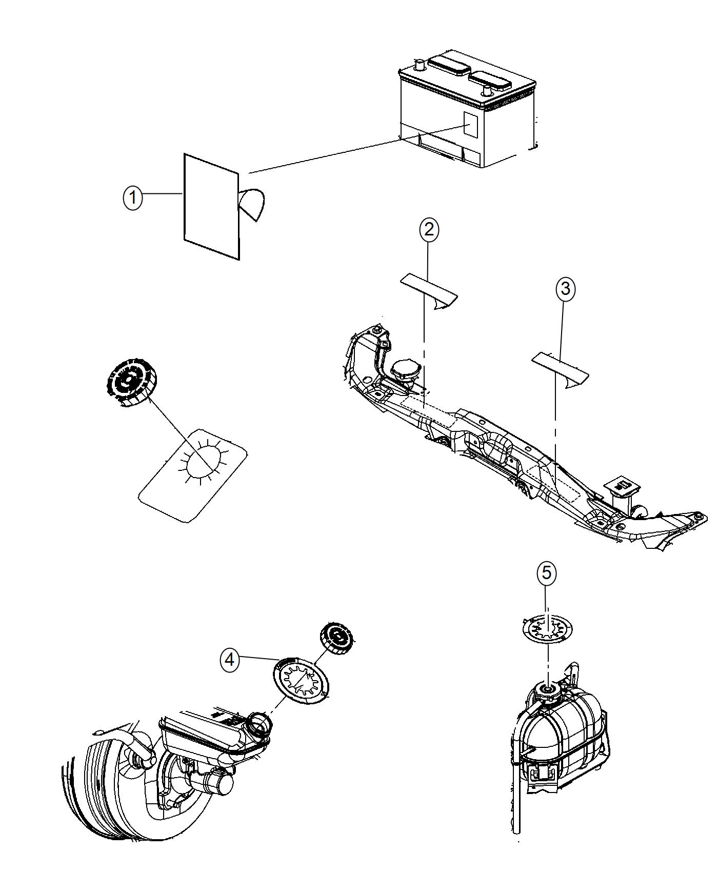 Dodge Durango Label Air Conditioning System Front
