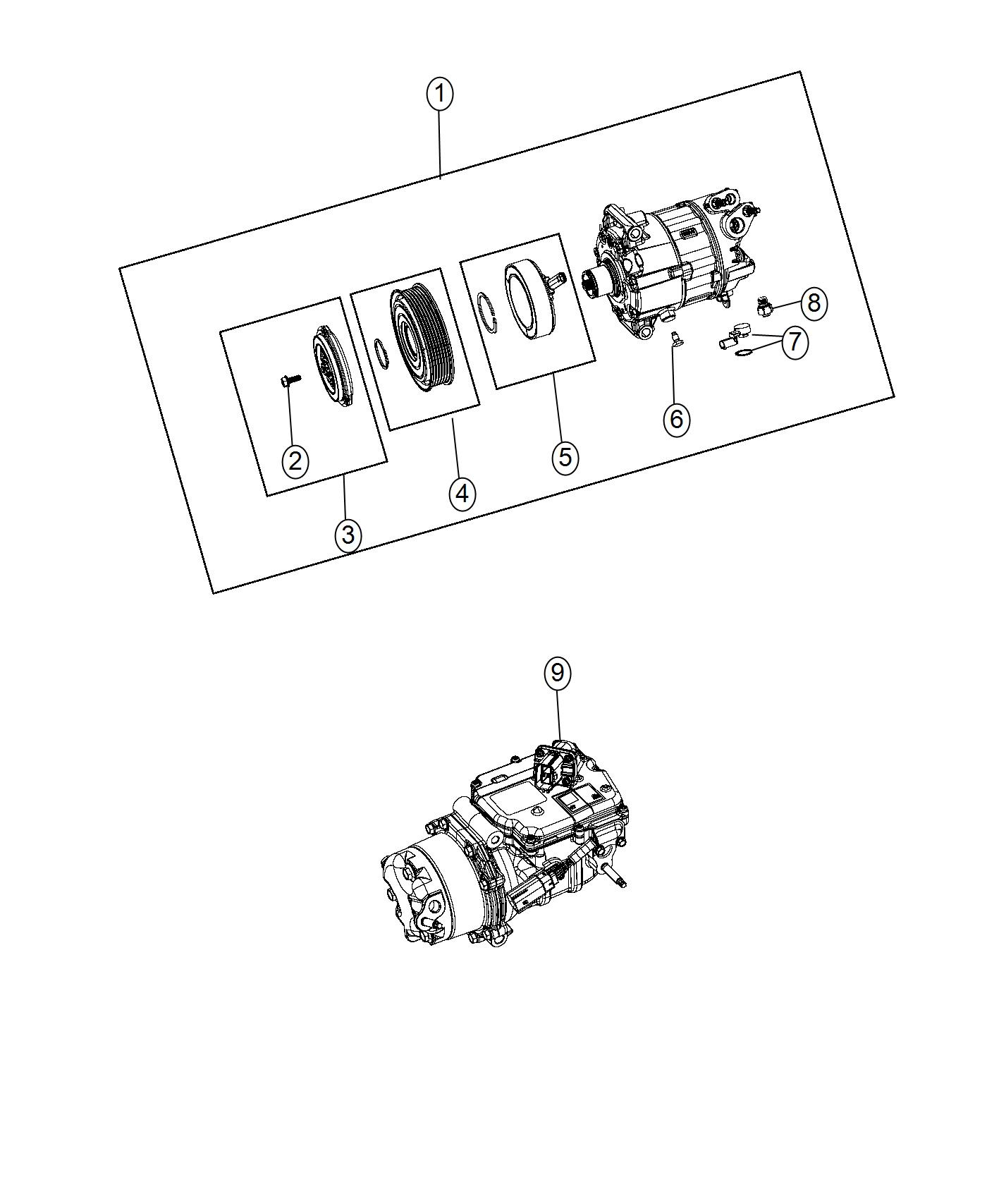 Chrysler Pacifica Lubricant Compressor Export No Rear