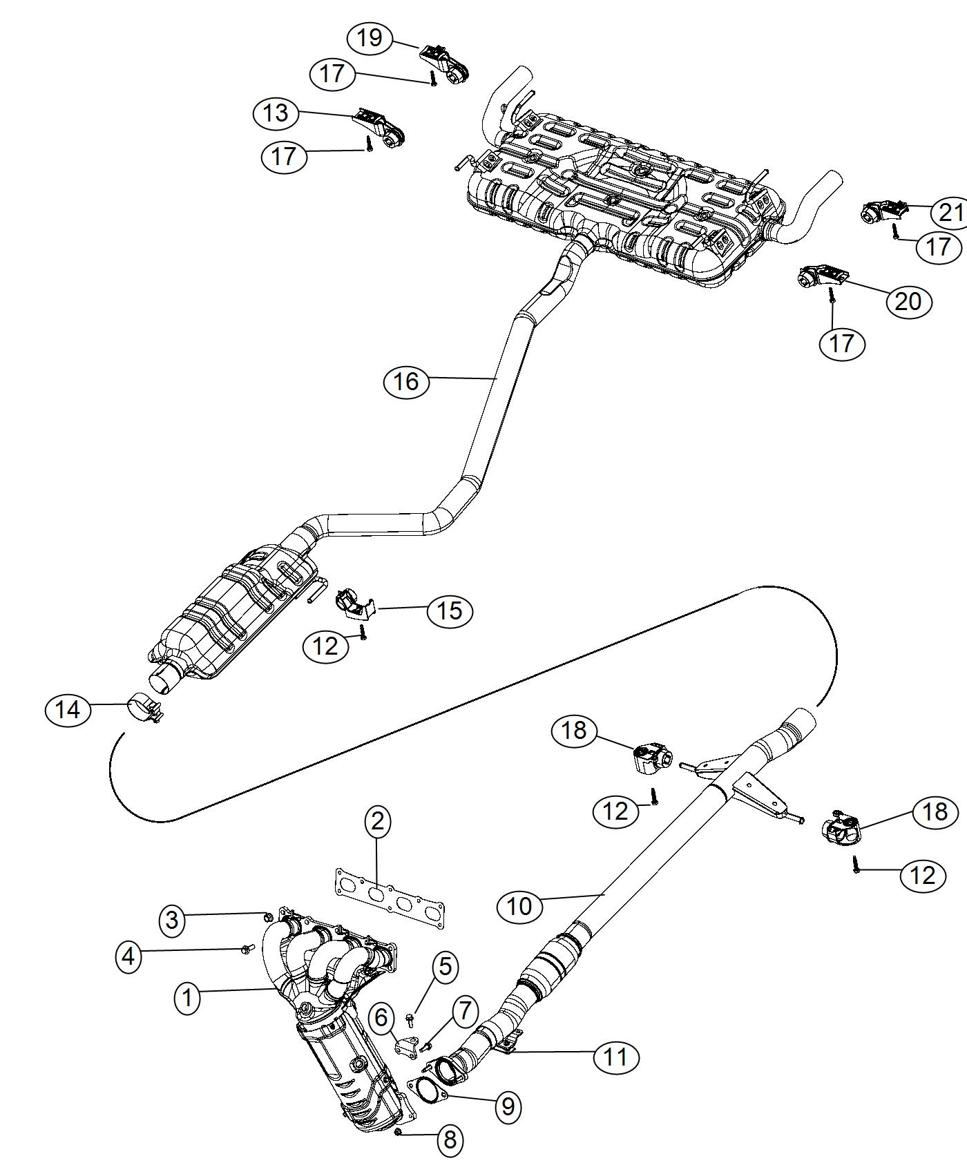 Chrysler 200 Manifold Exhaust And Catalytic