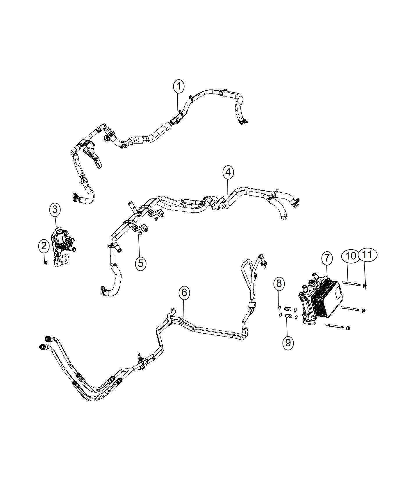 Dodge Ram Hose And Tube Oil Cooler Pressure And