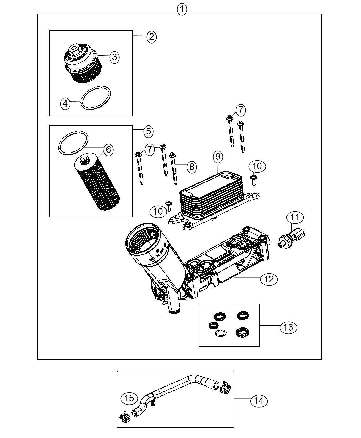 Dodge Journey Cap Kit Oil Filter Housing Engine