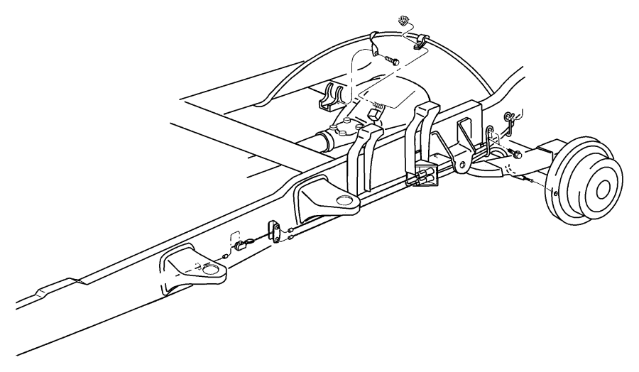 Dodge Ram Parking Brake Cable