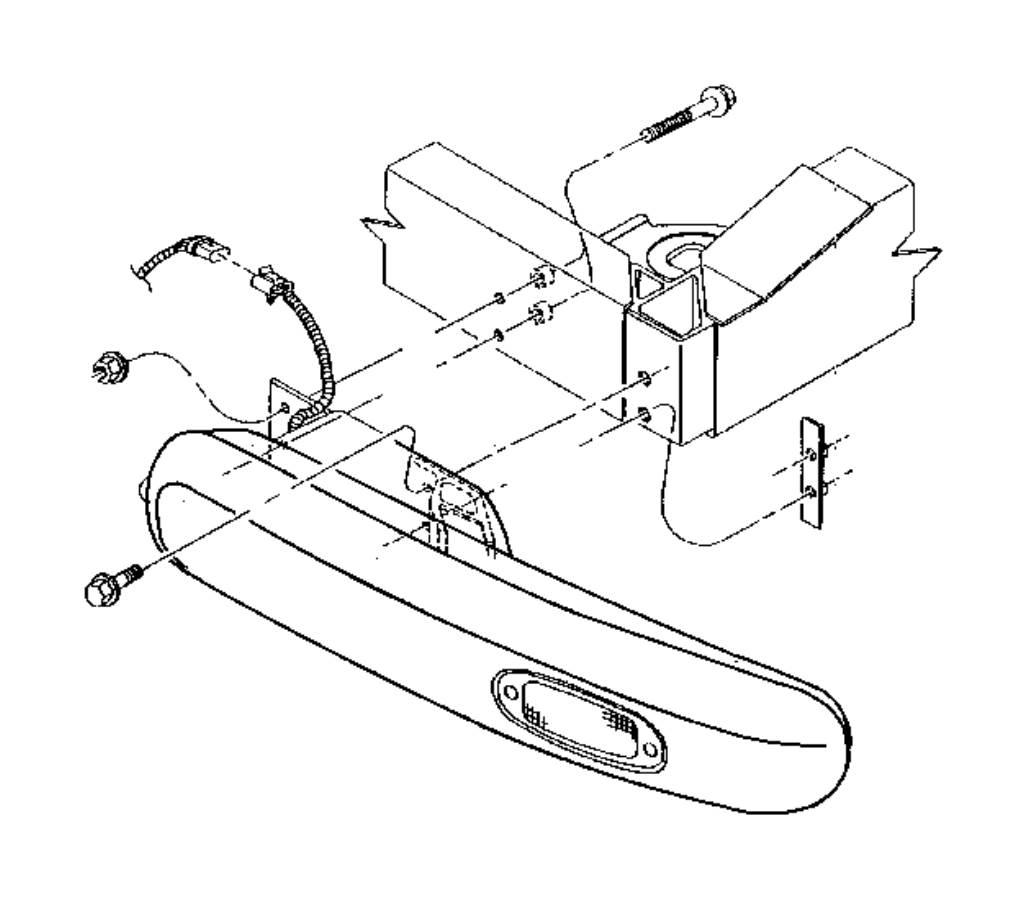 Dodge Ram Gear Nut Mounting Parking Brake Lever Assy Mounting Hex Flange Lock