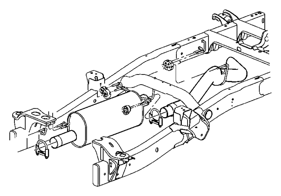 Dodge Ram Insulator Isolator Exhaust Exhaust