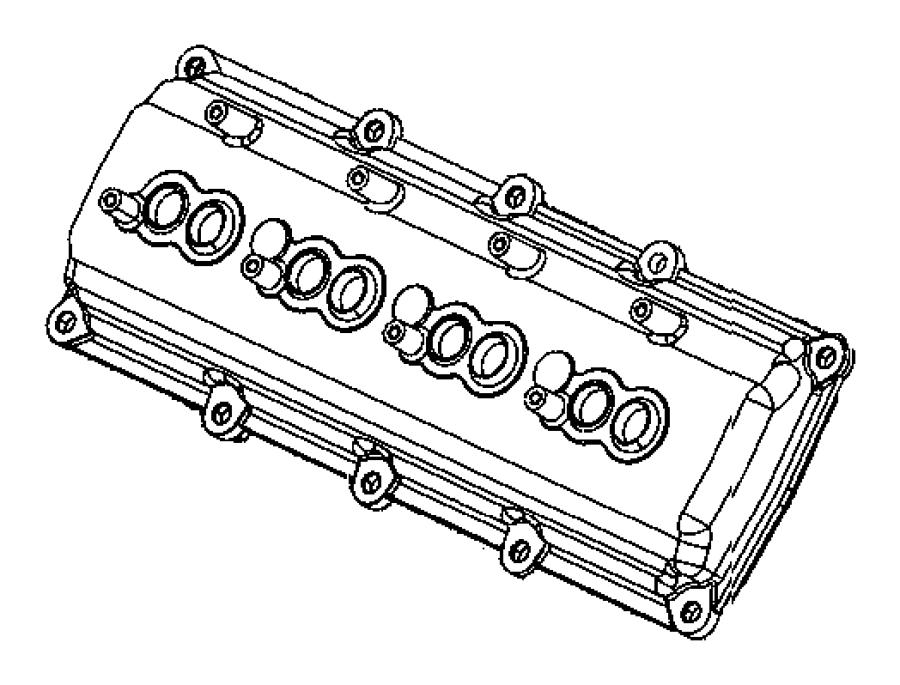 Cylinder Head Covers 6 1l 6 1l V8 Srt Hemi Engine
