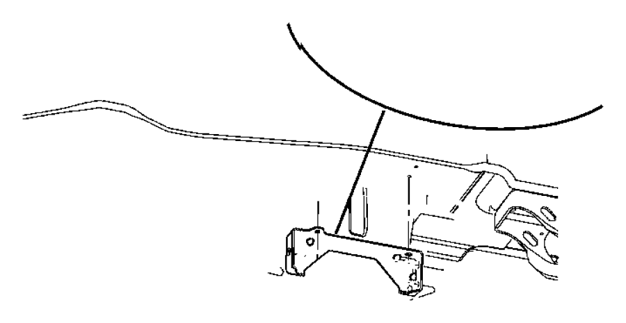 Chrysler Town Amp Country Bracket Parking Brake Cable