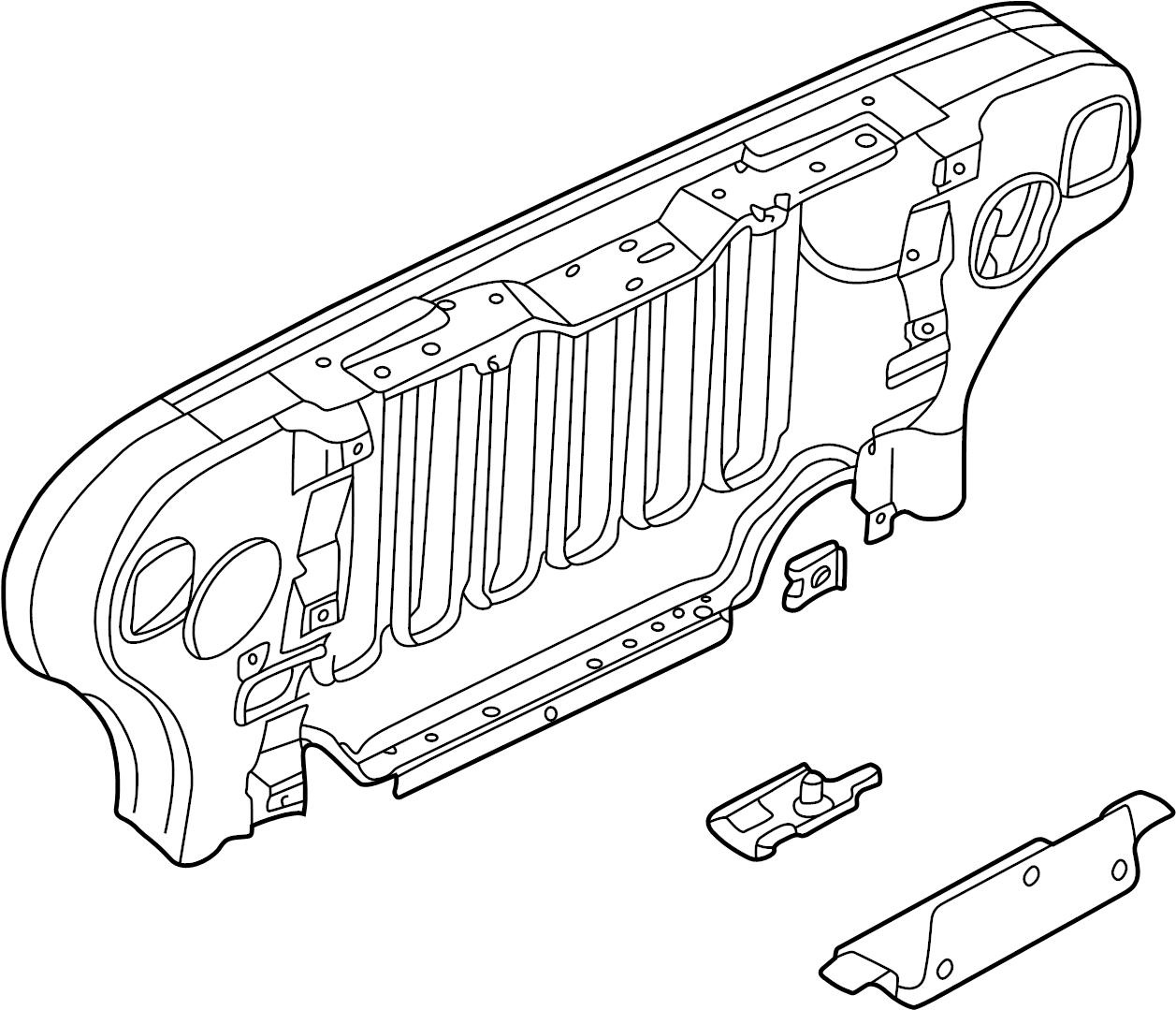 Panel Radiator Closure For Jeep Wrangler