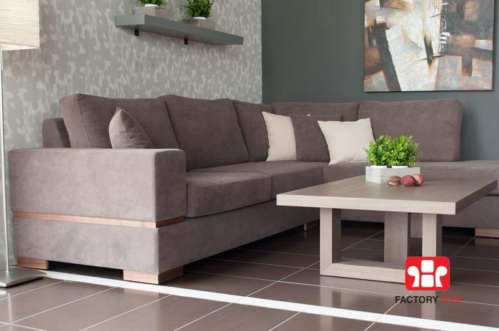 Σαλόνι Γωνία Skyros • Διάσταση 2.80m Χ 2.20m • Δυνατότητα επιλογής ξύλινης γραμμής στο μπράτσο και ξύλινα πόδια στο χρωματισμό που επιθυμείτε με μικρή επιβάρυνση.