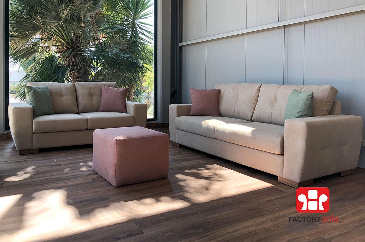 Σαλόνι Sitia Τριθέσιο - Διθέσιο | Σαλόνια Καναπέδες Factory Sofa