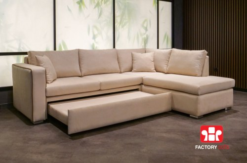 Γωνιακός Καναπές Κρεβάτι Rhodos   Σαλόνια Καναπέδες Factory Sofa Προσφορές