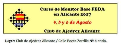 CURSO MONITOR AJEDREZ ALICANTE