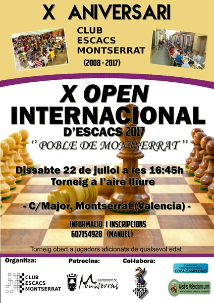 CARTEL OPEN AJEDREZ MONTSERRAT
