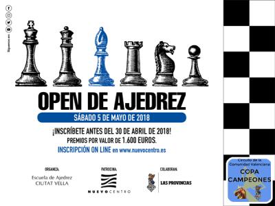 open ajedrez nuevo centro