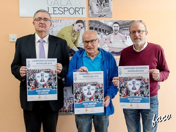 Luis Barona, César García y Miguel Chover