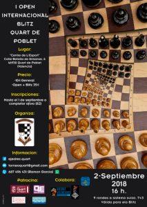 BLITZ QUART DE POBLET @ Centre de L'Esport