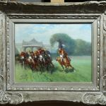 French Horse Racing Oil Painting E Pechaubes 1890 1967 Faded Rose Antiques Llc