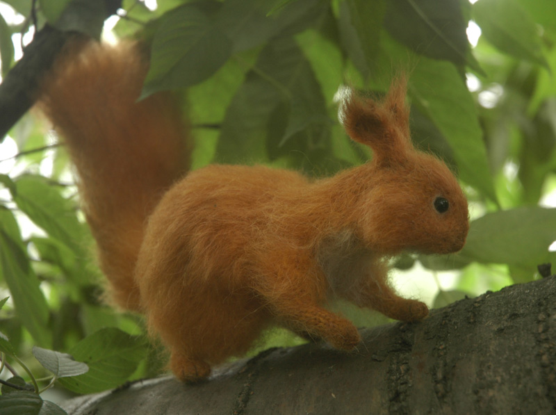 knitted squirrel