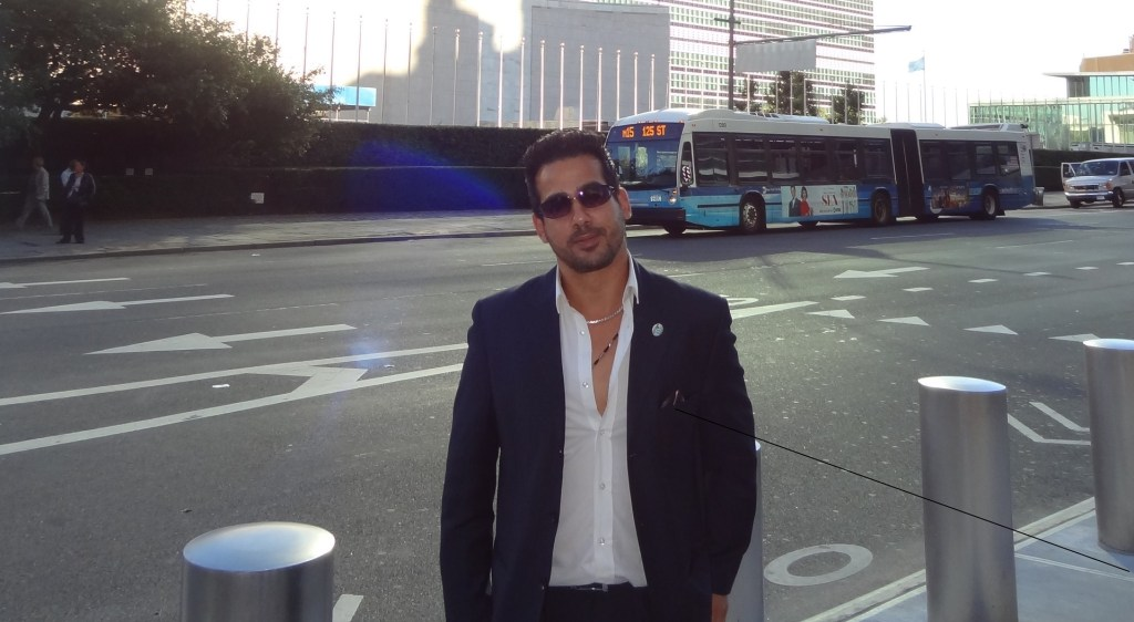 Fadi Ghali at the United Nations in New York