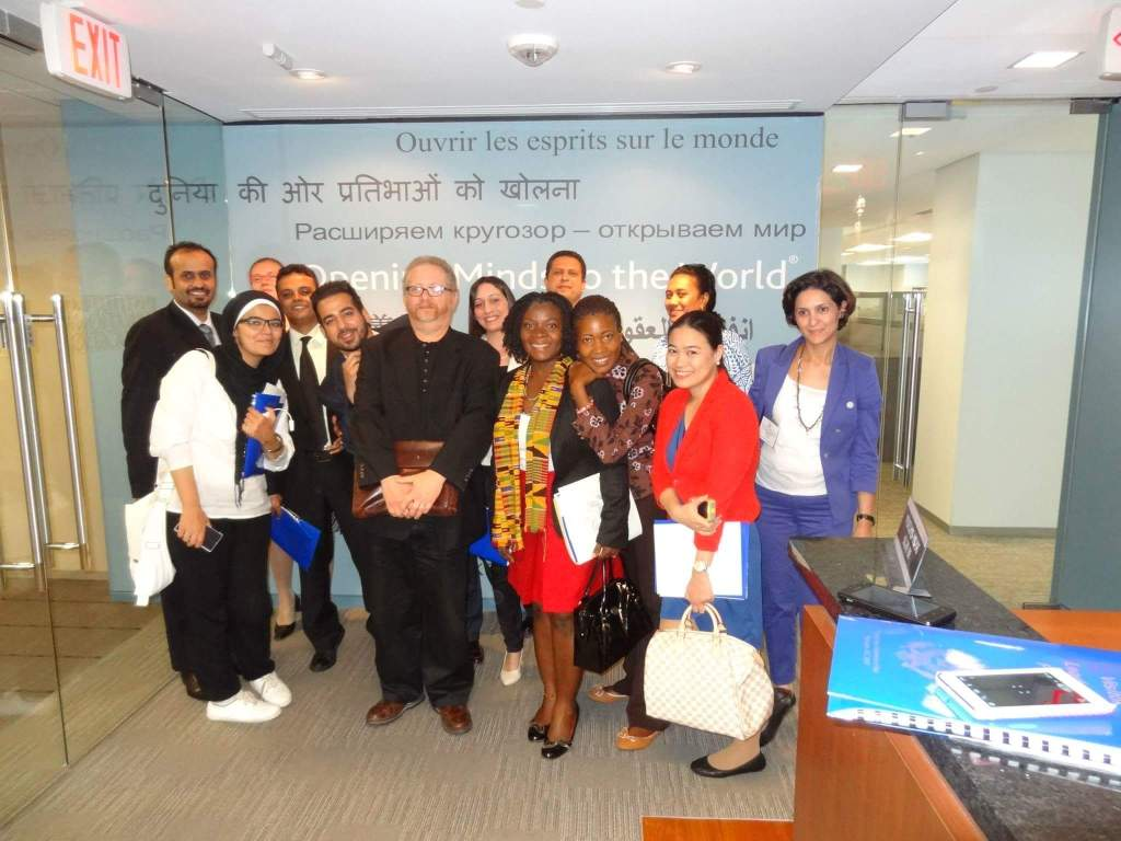 In the International Institute of Education - New York - IVLP 2013
