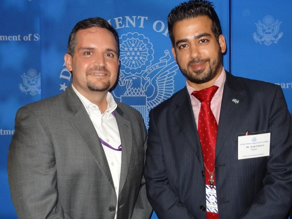 Fadi Ghali at US Department of State - Harry Truman Building With Peter Velasco - Deputy Press Officer - IVLP 2013