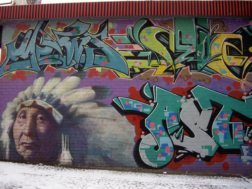 Kent Avenue Indian Chief Mural