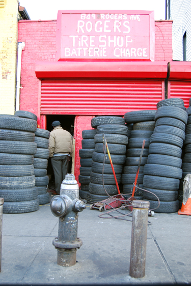 Rogers Avenue Tire Shop, Flatbush
