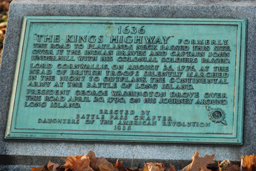 Erected by the Daughters of the American Revolution