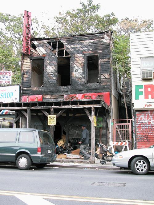 Razed Liquor Store - East NY