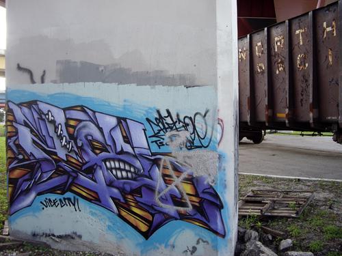 Graffiti Under the I-95 Overpass - Ft Lauderdale, FL