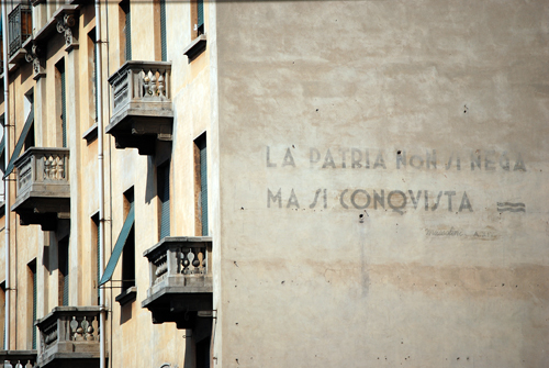 Mussolini Quote in Torino Italy - © Frank H. Jump