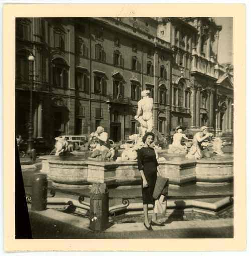 Willy in front of a Roman fountain August 1962