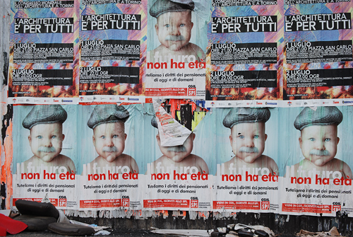 Italian Pension Plan Ad - Torino, Italy -  © Frank H. Jump