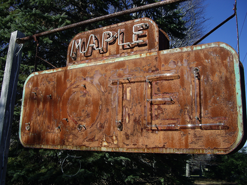 Maple Motel Derelict Neon - Rte 307 S, Maple Lake - Tooley Corners, PA