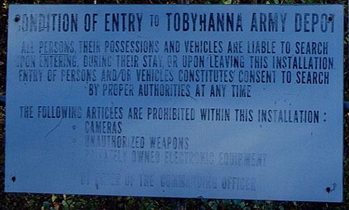 Tobyhanna Army Depot Sign - © Frank H. Jump