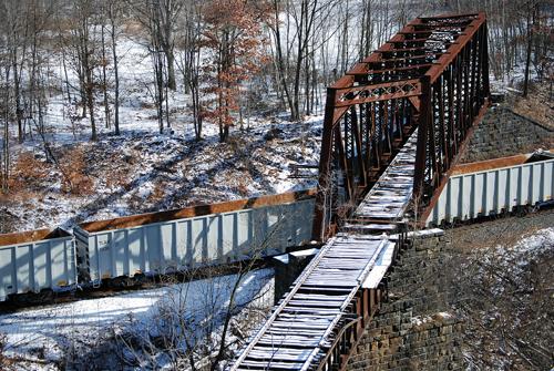 Trainbridge Towards Scranton