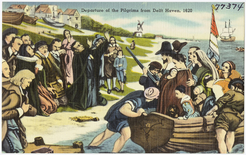 Pilgrims Departure from Delft Haven
