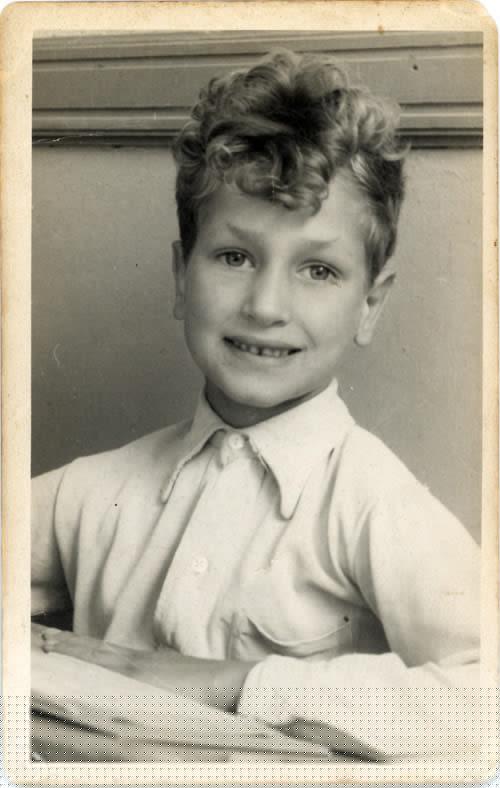 Frans Broekveldt as a child.