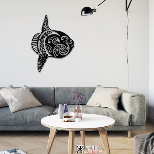 support mural poisson lune