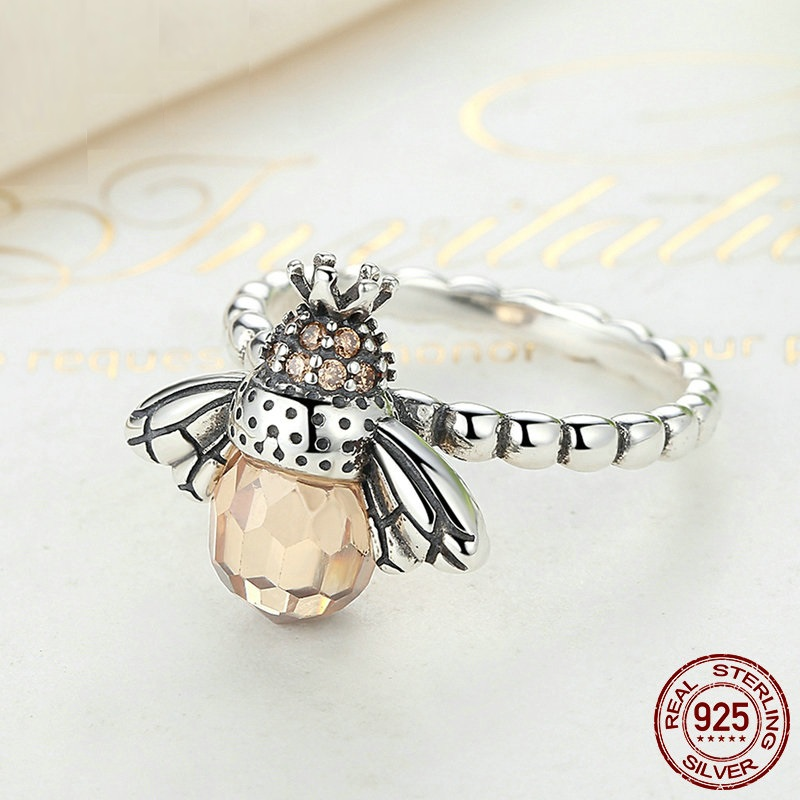 Fashion Silver plating Orange Wing Animal Bee Pendants Fit Bracelet For Womens